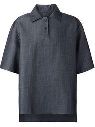 джинсовая футболка-поло свободного кроя Yang Li