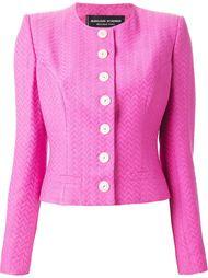 полосатый пиджак с узором шеврон Jean Louis Scherrer Vintage