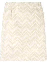 юбка с полосатым узором шеврон Jean Louis Scherrer Vintage