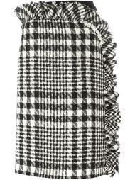 юбка в клетку с асимметричной оборкой Simone Rocha