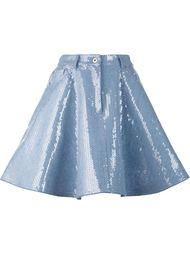 джинсовая юбка в пайетках Moschino
