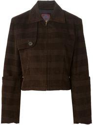 вельветовый пиджак в клетку John Galliano Vintage