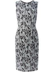 платье миди с принтом цветков глицинии Dolce & Gabbana