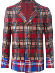 пиджак с комбинированным узором в клетку Comme Des Garçons Vintage