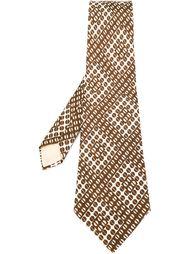 галстук с геометрическим узором Louis Feraud Vintage