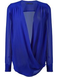блузка с драпировкой спереди Ermanno Scervino