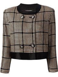 укороченная куртка с ломанной клеткой Courrèges Vintage