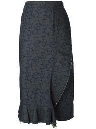 джинсовая юбка с запахом  Comme Des Garçons Vintage