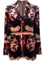 бархатная куртка с принтом Jean Paul Gaultier Vintage