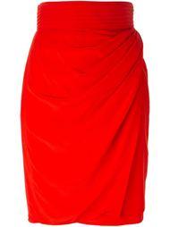 драпированная юбка-карандаш Versace Vintage
