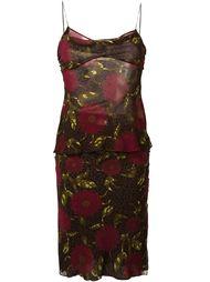 юбка и топ с цветочным принтом John Galliano Vintage