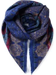 шарф в цветочный принт  Emanuel Ungaro Vintage