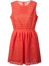 перфорированное платье  Fendi