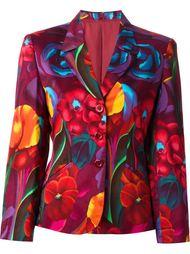 пиджак с цветочным принтом Kenzo Vintage