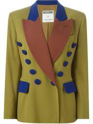 пиджак дизайна колор-блок Moschino Vintage