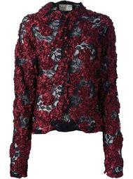 куртка с кружевной цветочной аппликацией Krizia Vintage