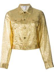 джинсовая куртка с металлическим отблеском Comme Des Garçons Vintage