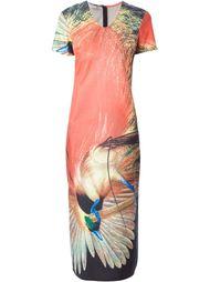 длинное платье с принтом птицы Walter Van Beirendonck Vintage