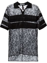 кружевное поло с цветочным узором Givenchy