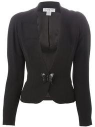 приталенный пиджак с деталью в форме бабочки Christian Dior Vintage