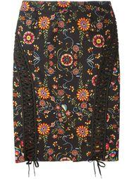 юбка-карандаш с декоративной шнуровкой  Christian Dior Vintage