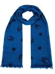 шарф с узором в ломаную клетку Lucien Pellat Finet