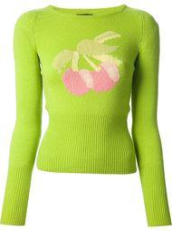 свитер с вишней интарсия Biba Vintage