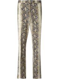 брюки с эффектом змеиной кожи  John Galliano Vintage