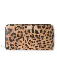 кошелёк на молнии с леопардовым принтом Dolce & Gabbana