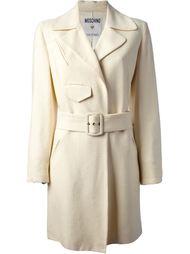 пальто с поясом Moschino Vintage