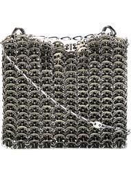 сумка на плечо с элементами кольчуги Paco Rabanne