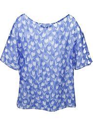 прозрачная блузка с принтом тюльпанов Emanuel Ungaro