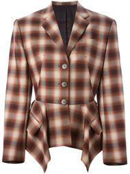 пиджак в размытую клетку  Jean Paul Gaultier Vintage