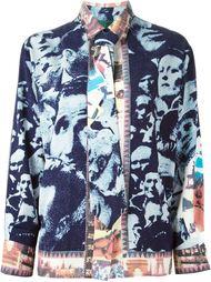 рубашка с галстуком в принт  Jean Paul Gaultier Vintage