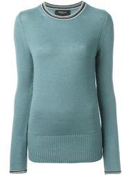 свитер с полосатой окантовкой Derek Lam