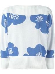 жаккардовый свитер с цветочным узором  Courrèges Vintage