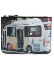 клатч с принтом автобуса Comme Des Garçons Wallet