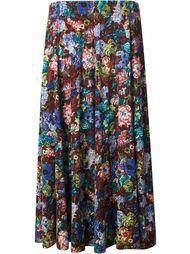 юбка с цветочным узором Kenzo Vintage