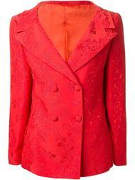 пиджак с цветочным тиснением Versace Vintage