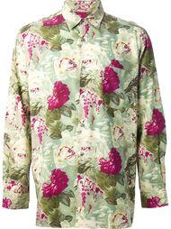 рубашка с принтом из роз Jean Paul Gaultier Vintage