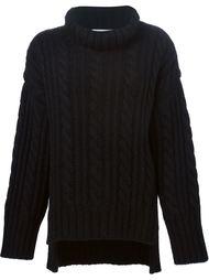 свитер вязки косичкой свободного кроя Viktor & Rolf