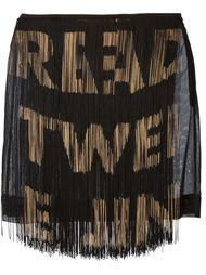 юбка с бахромой  Moschino Vintage