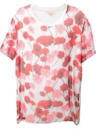 свободная футболка в цветочный принт   Giambattista Valli