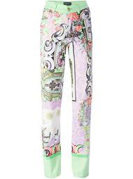джинсы с комбинированным принтом Versace Vintage