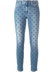 джинсы с вышивкой  Stella McCartney