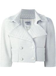укороченная текстурированная куртка Chanel Vintage