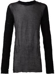 полупрозрачный свитер Todd Lynn