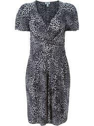 платье с леопардовым принтом  Moschino Vintage