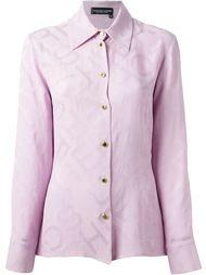 жаккардовая рубашка Jean Louis Scherrer Vintage