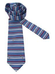 галстук в горизонтальную полоску Pierre Cardin Vintage